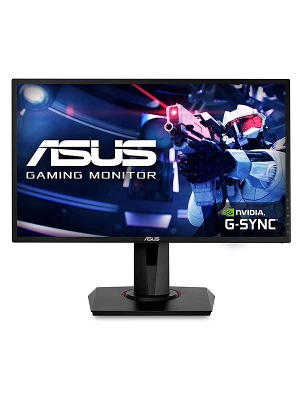 ASUS VG248QG 24-Inch FHD (1920x1080)  G-Sync Compatible Gaming Monitor, 165Hz Refresh Rate, Full HD 1080P, 0.5ms, DP, HDMI, DVI, Eye Care, VG248QG, Black with Warranty