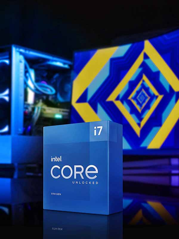 Intel 11th Gen Core i7-11700K - 8 Cores & 16 Threads, 5 GHz Maximum Turbo Frequency, Dual-Channel DDR4-3200 Memory, Intel UHD 750 Graphics, 16MB Cache Memory, LGA 1200 Box Processor with Warranty