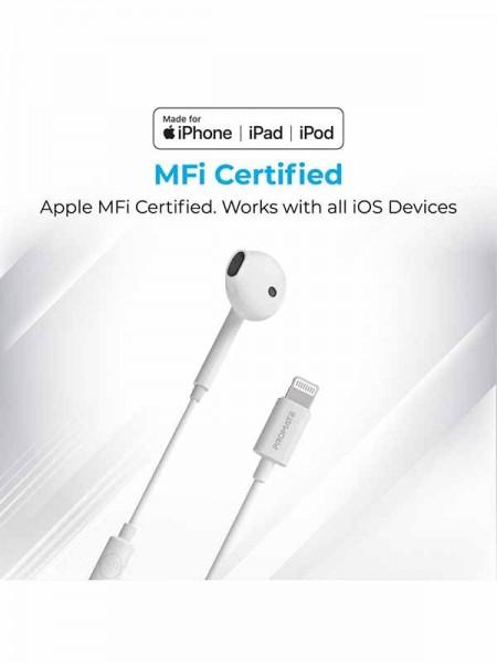 Promate GearPod-LT In-Ear Apple Mfi Mono Earphone