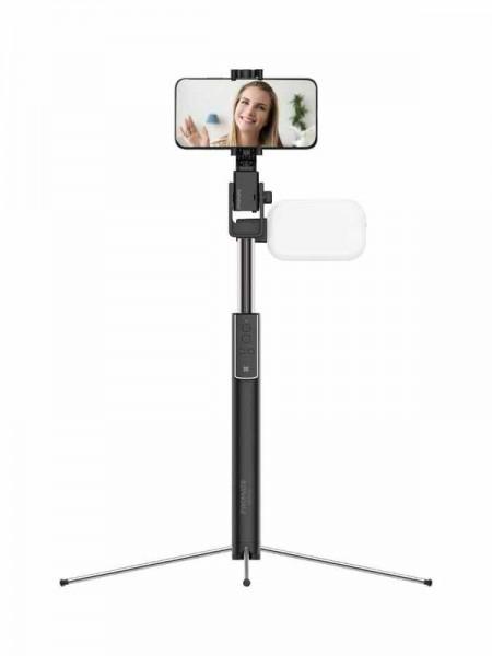 Promate MediaPod Selfie Stick with Tripod, Bluetoo
