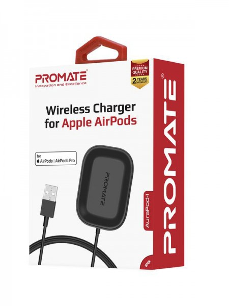 Promate AuraPod-1 Wireless Charging Pad, USB Type