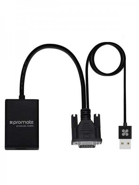Promate VGA to HDMI Converter Adaptor 1080p HD Res