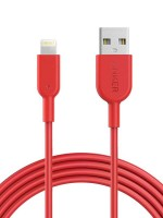 Anker Powerline II Fast Charging Lightning Cable (6ft), Red with Warranty