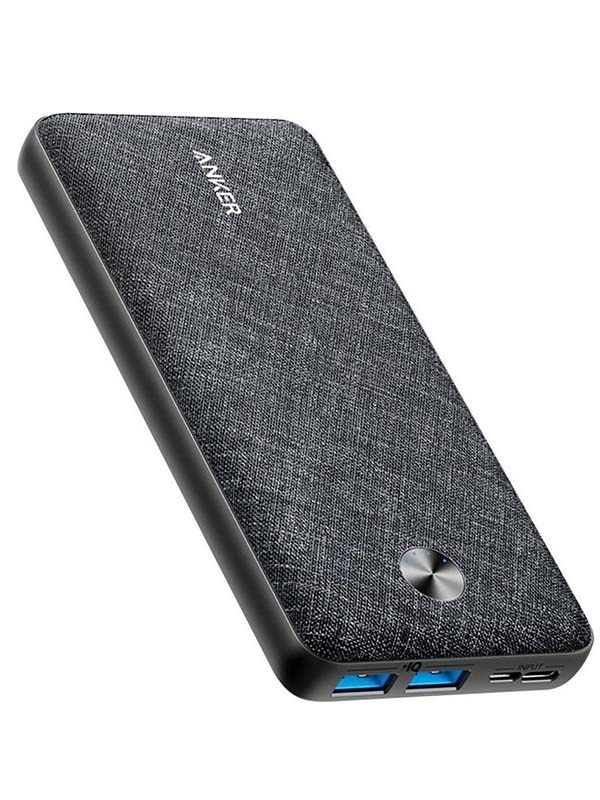 Anker 10000 mAh PowerCore Sense PD Fabric Power bank, Black with Warranty