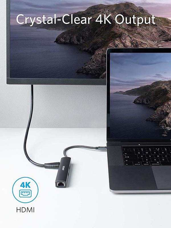 Anker 5-in-1 PowerExpand+ USB-C Ethernet Hub For Laptops & Mobile phones with Warranty