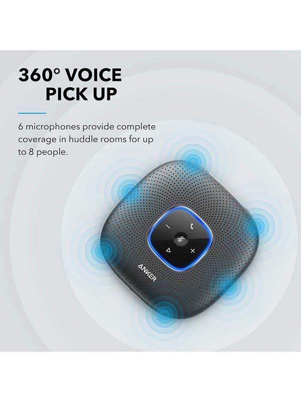 Anker PowerConf Wireless Bluetooth Speakerphone, Black with Warranty
