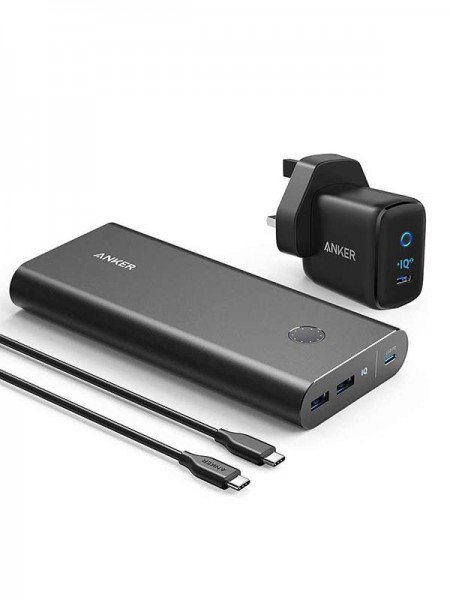 Anker PowerCore+ 26800 PD 45W with 60W PD Charger,