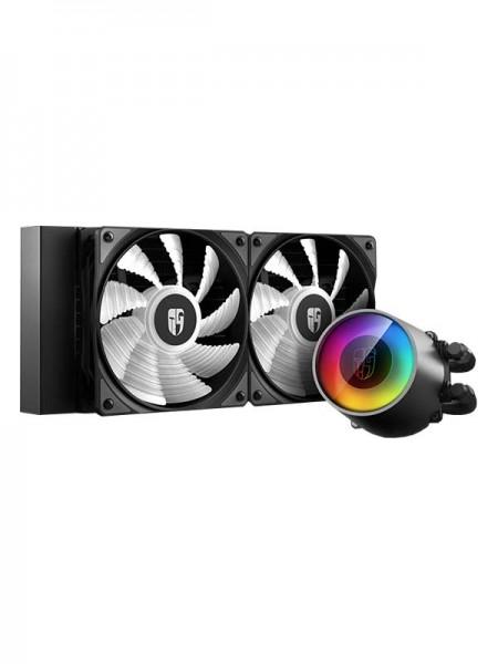 DEEPCOOL Gamers Strom CASTLE 240 RGB V2, AIO CPU L