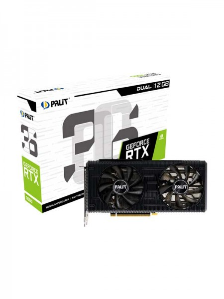 PALIT GeForce RTX3060 DUAL 12GB GDDR6, 192bit, 3-D