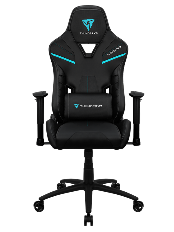 ThunderX3 TC5 Premium Leatherette with Carbon Fiber-Style Pattern AIR Tech Breathable, 90 – 180° Adjustable Backrest Gaming Chair, Jest Black