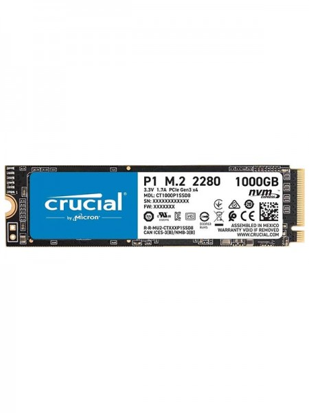 CRUCIAL P1 1TB 3D NAND NVMe PCIe M.2 SSD   CT1000P