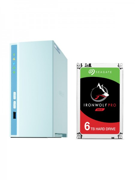 QNAP TS-230 2GB 2BAY + HDD SATA 6TB SEAGATE IRON W