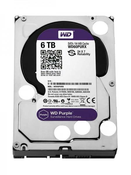 WD Purple 6TB Surveillance HDD, 5400rpm SATA 6Gb/s