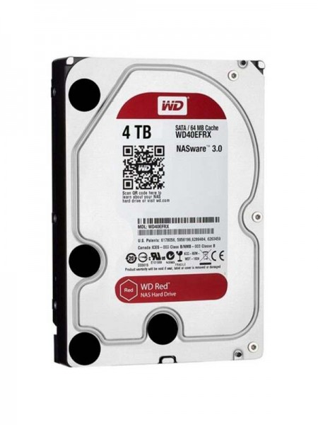 WD Red 4TB NAS HDD, 5400rpm, SATA 6 Gb/s, 3.5 Inch
