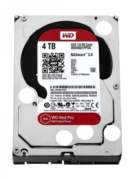 WD Red Pro 4TB NAS HDD, 7200rpm, SATA 6 Gb/s, 3.5