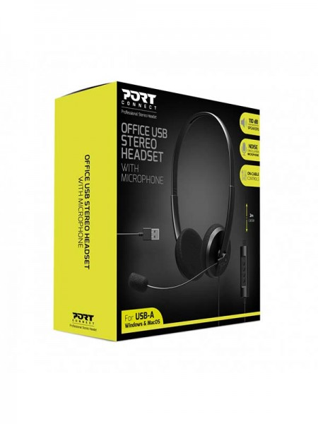 PORT Office USB Stereo Headset with Microphone | 9