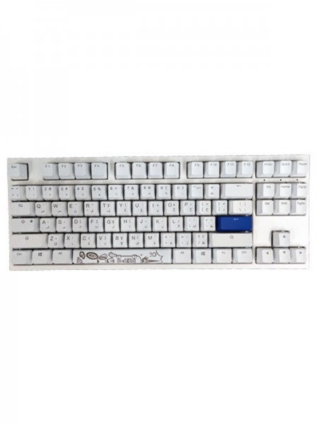 Ducky ONE 2 TKL WHITE & Blue Swith Gaming Keyb