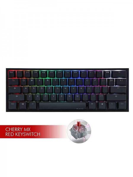 Ducky ONE 2 MINI RGB LED Black & Red Swith Gam