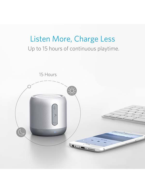 Anker SoundCore Mini Wireless Bluetooth Speaker, Grey with Warranty