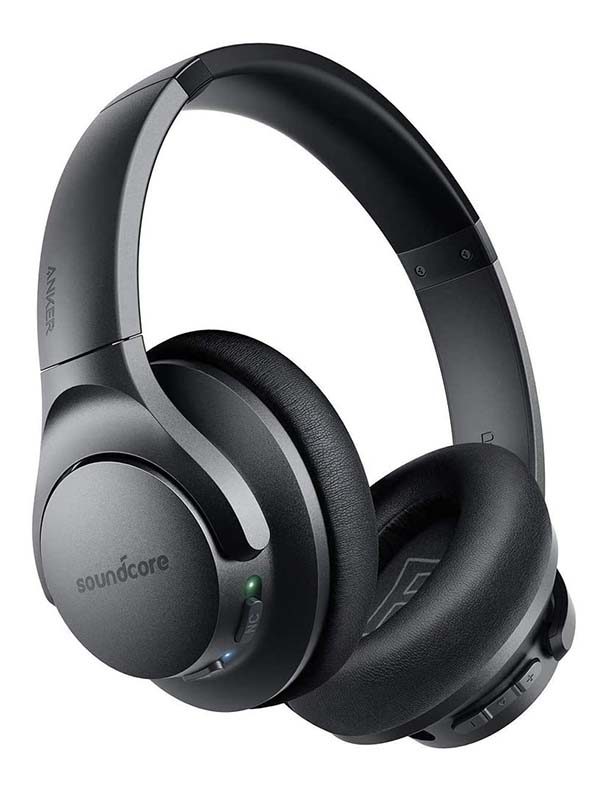 Anker Soundcore Life Q20 Hybrid Active Noise Cancelling Headphones, Black with Warranty
