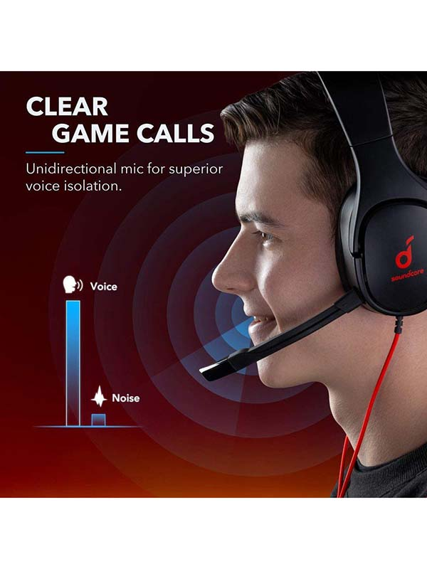 Anker Soundcore Strike 1 Stereo Sound Gaming Headset, Black with Warranty