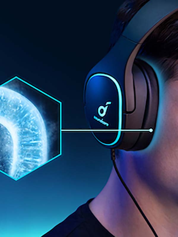 Anker Soundcore Strike 3 Gaming Headset, PS4 Headset, PC Headset, 7.1 Surround Sound, Black with Warranty