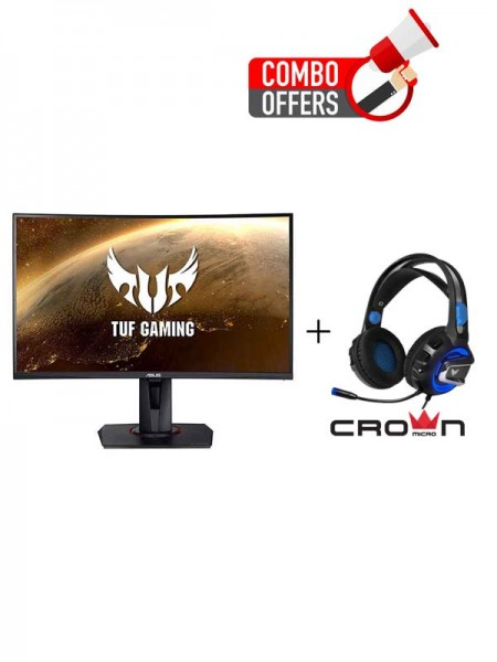 ASUS VG27VQ TUF Gaming 27inch Full HD Curved Gamin