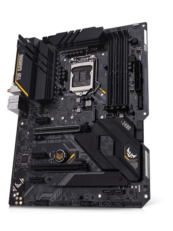 AMD B550-PLUS (Ryzen AM4) ATX gaming motherboard      with PCIe 4.0, dual M.2, 10 DrMOS power stages, 2.5 Gb Ethernet, HDMI, DisplayPort, SATA 6 Gbps   TUF GAMING B550-PLUS
