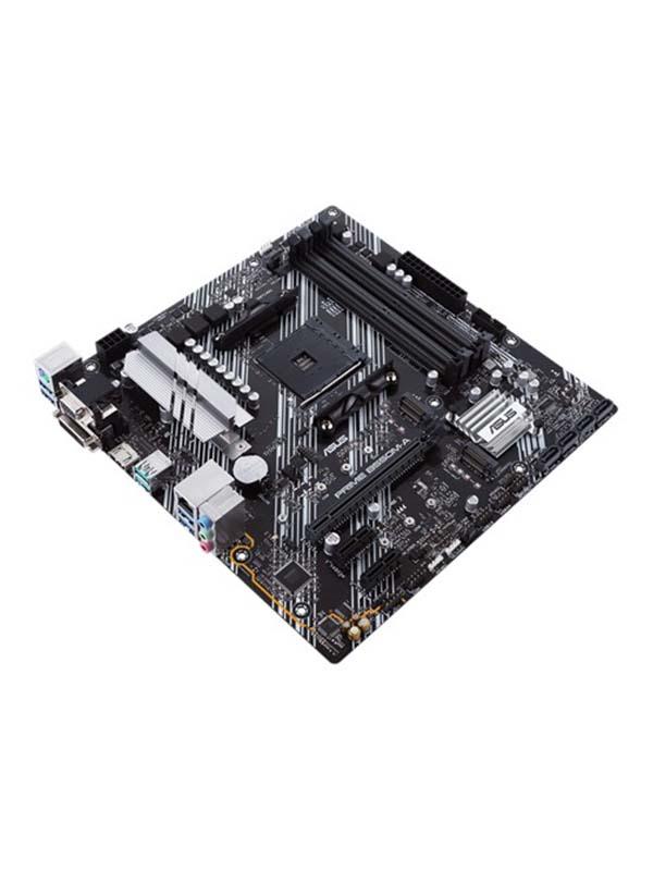 AMD B550M-A (Ryzen AM4) micro ATX motherboard with dual M.2, PCIe 4.0, 1 Gb Ethernet, HDMI/D-Sub/DVI, SATA 6 Gbps, USB 3.2 Gen 2 Type-A, and Aura Sync RGB headers support | PRIME B550M-A