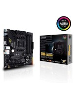 AMD B550M-PLUS (Ryzen AM4) micro ATX gaming motherboard with PCIe 4.0, dual M.2, 10 DrMOS power stages, 2.5 Gb Ethernet, HDMI, DisplayPort, SATA 6 Gbps, USB 3.2 Gen 2 Type-A and Type-C, and Aura Sync RGB lighting support | TUF GAMING B550M-PLUS