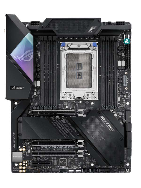AMD TRX40 ATX motherboard sTR4 for 3rd Gen AMD Ryzen Threadripper series processors, with 16 power stages, on-board Wi-Fi 6 (802.11ax)   ROG Strix TRX40-E Gaming