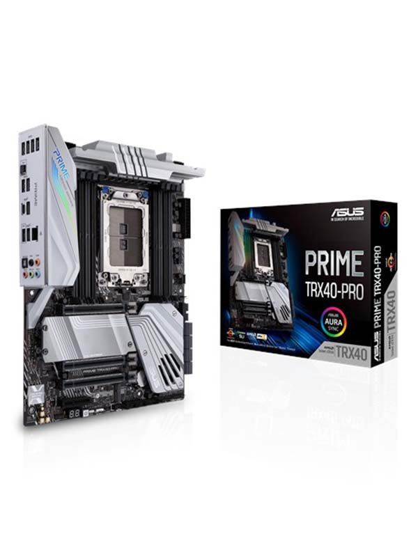 AMD TRX40 ATX motherboard sTRX4 for 3rd Gen Ryzen Threadripper-series processors with 16 power stages, DDR4 4666+ MHz (O.C) | Prime TRX40-Pro