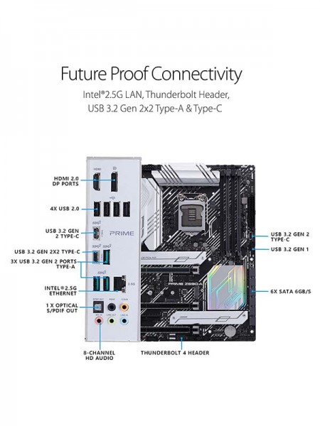 Asus Prime Z590-A, Intel Socket 1200, ATX, LGA1200