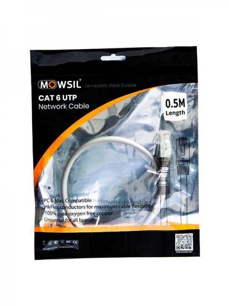 MOWSIL CAT6 UTP Cable 50 CM | MOUT50C