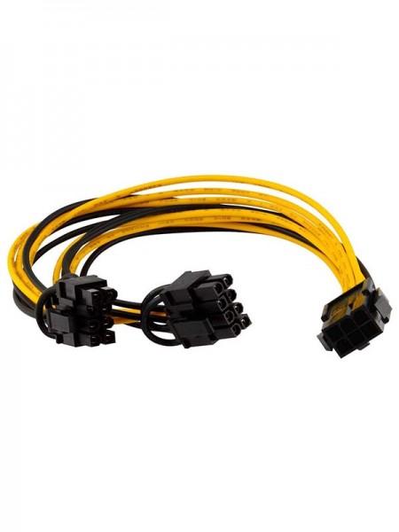 PCI-E 6-pin to 2x 6+2-pin (6-pin/8-pin) Power Spli