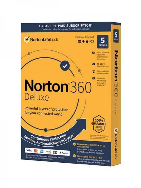 NORTON™ 360 Deluxe, 5 Devices | 50GB